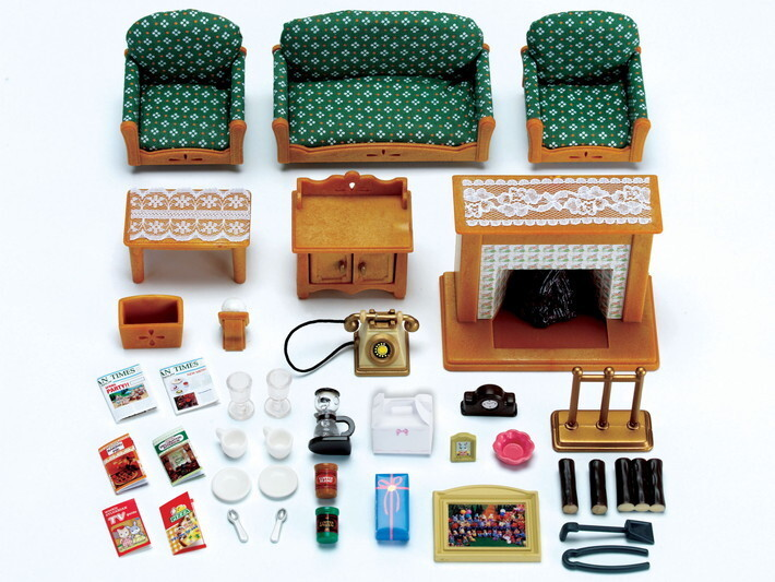 buy sylvanian families deluxe living room set. Black Bedroom Furniture Sets. Home Design Ideas
